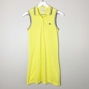 Jeffrey Limited Edition Lacoste Yellow Tank Dress